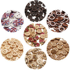 Wood Clothes Shirt 2-4 Hole Buttons Sewing Accessories Craft Scrapbooking