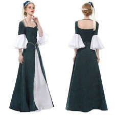 Women Medieval Renaissance Dress Women Halloween Costume Suede Dresses Gown