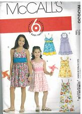 5838 UNCUT McCalls Sewing Pattern Girls Dress Easy 6 Great Looks 7 - 14 Sundress