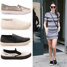 LADIES WOMENS TRAINERS PUMPS FLAT CASUAL FASHION COMFORT SNEAKERS SHOES SIZE 3-8