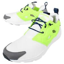 Reebok Furylite White Yellow Grey Mens Casual Shoes Sneakers Trainers V69441