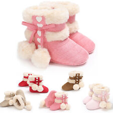 Girl Toddler Boots Shoes Newborn Baby Winter Warm Soft Sole Prewalker Sneakers