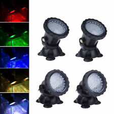 Submersible 36 LED RGB Pond Spot Lights for Underwater Pool Fountain Light New