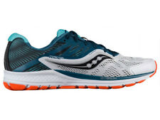 NEW MENS SAUCONY RIDE 10 RUNNING SHOES WHITE / TEAL / ORANGE