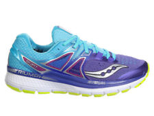 NEW WOMENS SAUCONY TRIUMPH ISO 3 RUNNING SHOES PURPLE / BLUE / CITRON