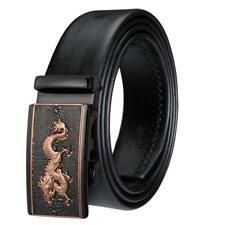 Fashion Mens Genuine Leather Automatic Buckle Waist Strap Waistband Belts 677