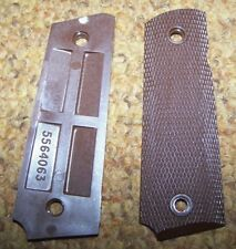 M-1911 & A1 .45 GRIPS, BROWN PLASTIC, U.S. ISSUE *NEW*