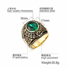 Popular New Size 7-11 Band Sapphire Stainless Steel Mens Engagement Rings Party