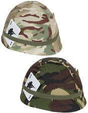 Kids Army Boys Multi Camo US GI M1 Style Toy Play Set Soldier Helmet Costume