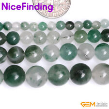 Natural Gemstone Round Green Chalcedony Stone Beads For Jewelry Making Strand15""