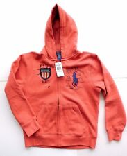 NWT $59.50 BOYS Ralph Lauren Polo Red Hooded Sweater