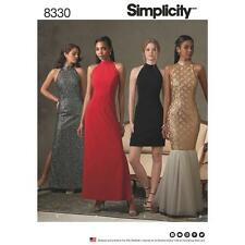 SIMPLICITY SEWING PATTERN MISSES EVENING PROM WEDDING DRESS SIZE 4 - 20 8330