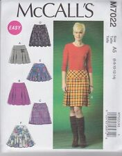 McCall's Sewing Pattern Misses' Skirts with yokes & back zip Sizes 6 - 22 M7022