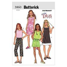 BUTTERICK SEWING PATTERN GIRLS'/GIRLS' PLUS TOP DRESS SHORTS & PANTS 7-14 B3860