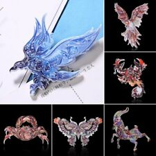 Vintage Retro Woman Printing Animal Butterfly Eagle Brooch Pin Lady Jewelry Gift