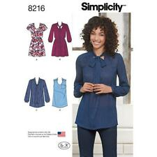 SIMPLICITY SEWING PATTERN MISSES MINI-DRESS OR TUNIC NECKLINE & SLEEVE VAR 8216