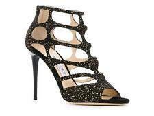 Jimmy Choo high heels strappy sandals in black Suede leather