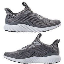 ADIDAS ALPHABOUNCE EM MEN's RUNNING GREY - WHITE AUTHENTIC NEW IN BOX SELECT SZ