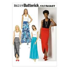 BUTTERICK SEWING PATTERN MISSES' CLOSE FITTING SKIRTS SIZE 6-22 B6219