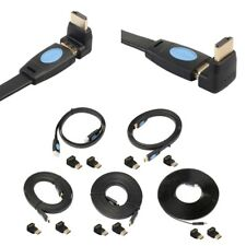 Lot HDMI V2.0 Male To Male 4K*2K Flat Cable Adapter For Laptop HDTV Projector
