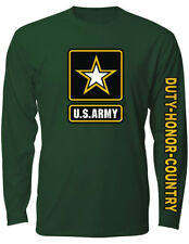 NEW NWT US Army Military Long Sleeve T-Shirt - Logo Sleeve Design
