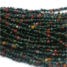 Natural Genuine Green Red India Blood Stone Jasper Nugget Loose Beads Free Form