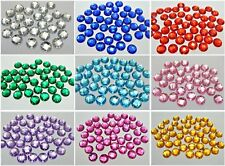 200 Flatback Acrylic Round Sewing Rhinestone Gems Button 12mm Sew on beads