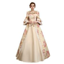 Retro Victorian Dress Women Medieval Renaissance Costume Ball Gown Floral Dress