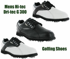 Hi-Tec Dri-Tec G 300 Golf Waterproof Leather Shoes Trainers Mens UK6-13
