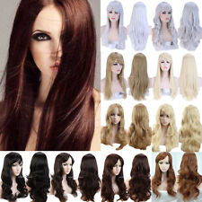 Hot Halloween Cosplay Full Wig Natural Long Wave Curly Straight Hair Costume Hh7