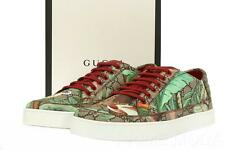 NEW GUCCI TIAN GUCCISSIMA SUPREME LOGO LACE-UP CASUAL SNEAKERS SHOES 8 G/US 9