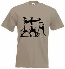 BANKSY HEAVY WEAPONRY T-SHIRT - Choice Of Colours - Sizes S to XXXL