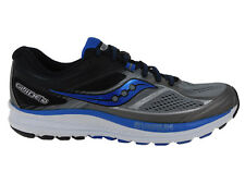 NEW MENS SAUCONY GUIDE 10 RUNNING SHOES TRAINERS GREY / BLACK / BLUE