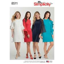 SIMPLICITY SEWING PATTERN MISSES' DRESS SLEEVE VARIATIONS SIZE 8 - 22 8511