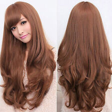 BA_ WOMEN LOLITA CURLY WAVY LONG FULL WIG HEAT RESISTANT COSPLAY PARTY HAIR ENTI