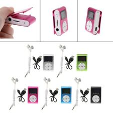 Mini USB Metal Clip MP3 Media Player LCD Screen Support 32GB Micro SD TF Card