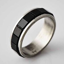 Fancy Womens /Boy's White GF Stainless Steel Ring Size 6,7,8,9#D2758-D2761