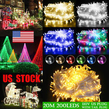 US 20M 200LEDS Outdoor Waterproof AC110V Chirstmas Party Fairy LED String Lights