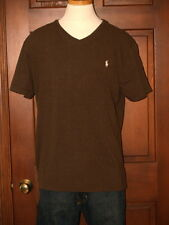 Polo Ralph Lauren Brown Heather V-Neck T-Shirt  Polo Pony M L XL XXL NWT