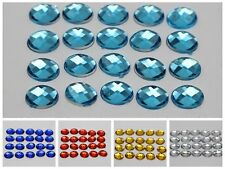 500 Acrylic Flatback Faceted Oval Rhinestone Gems 6X8mm No Hole Color for Choice