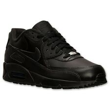 NIKE AIR MAX 90 LEATHER BLACK MENS RUNNING SHOES **FREE POST AUSTRALIA