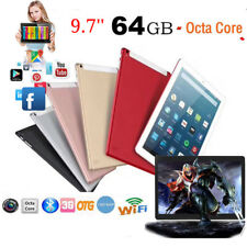 9.7'' Tablet PC 4+64GB Android 6.0 Octa-Core Dual Camera SIM 4G RAM GPS WiFi USA