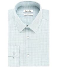 Calvin Klein Mens Steel Slim-Fit Button Up Dress Shirt