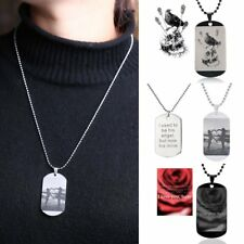 DIY Personalized Stainless Steel Engrave Name ID Dog Tag Charm Necklace Keychain