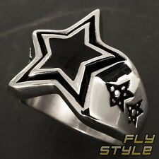 Star Ring Stainless Steel Rockabilly Punk Rock Stars emo gothic BH Star Silver