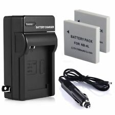 NB-4L Battery + Charger For Canon NB4L PowerShot SD1000 SD1100 IS IXUS 65 75