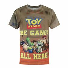 Toy Story Childrens/Boys Official The Gangs All Here T-Shirt (NS173)