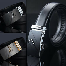 Luxury Genuine Leather Automatic Buckle Waistband Strap Men Genuine Belt O0092