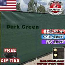 4'x50',5'x50',6'x50',8'x50' Fence Wind screen w/ Grommets Privacy color+Zip Ties