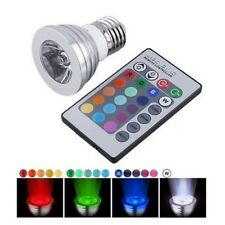 E27 3W RGB Multicolor 16 Colors Party LED Lamp Light Bulb IR Remote Control #a